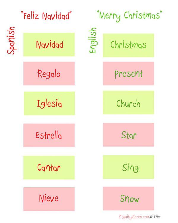 Christmas Spanish Worksheets #2