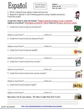 Christmas Spanish Worksheets #3
