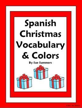 Christmas Spanish Worksheets #5