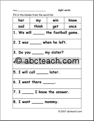 Cloze Practice Worksheets #1
