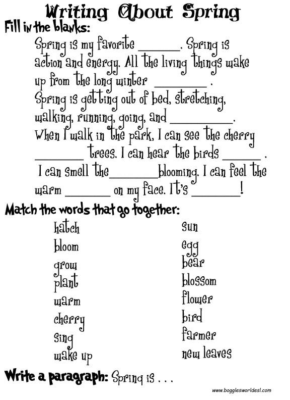 Cloze Test Worksheets #1