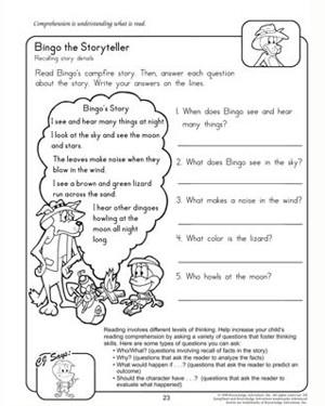 Comprehension Worksheets 4th Grade #5