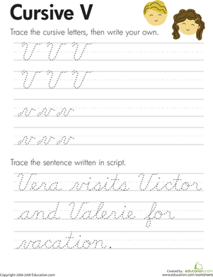 Cursive Writing Worksheets For 4th Grade #4