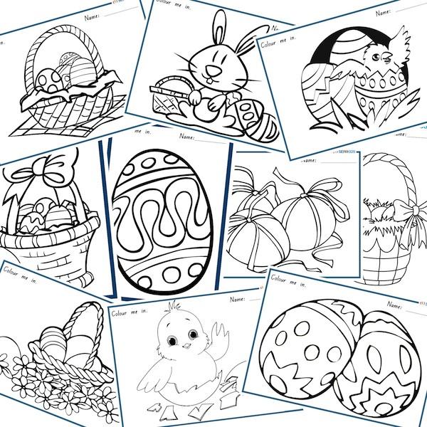 Easter Activity Worksheets #2