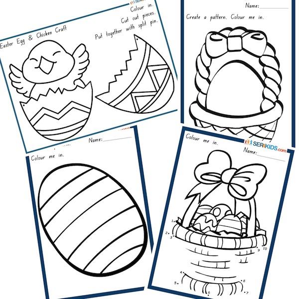 Easter Activity Worksheets #3
