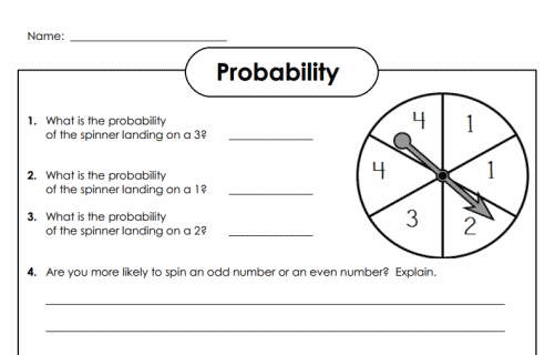Easy Probability Worksheets #5