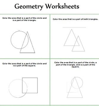 Elementary Geometry Worksheets #1