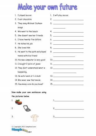 English Future Tense Worksheets #2