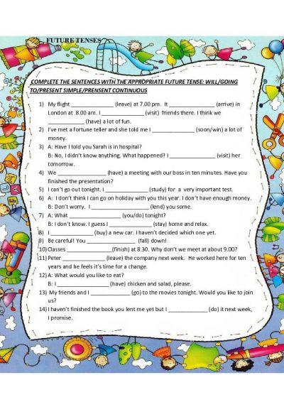 English Future Tense Worksheets #5