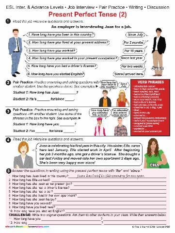 Esl Job Worksheets #3