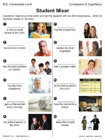 Esl Prepositions Worksheets #1