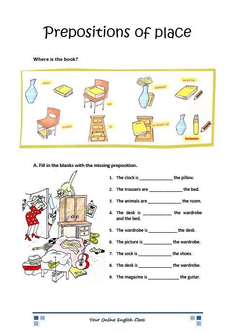Esl Prepositions Worksheets #5
