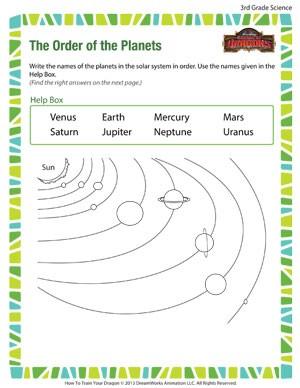 Free 3rd Grade Science Worksheets #4
