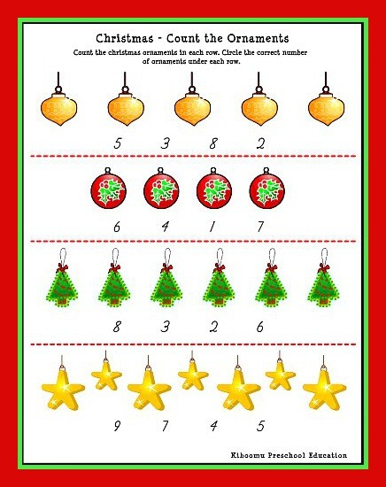 Free Christmas Math Worksheets For Kids #3