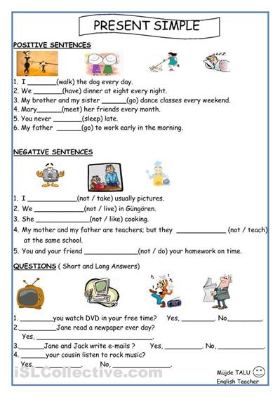 Free Esl Printable Worksheets #2