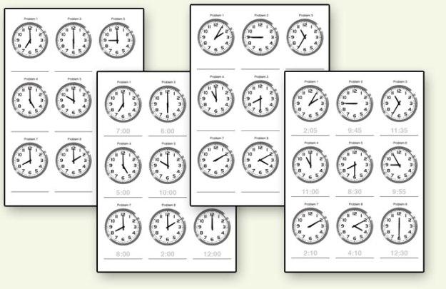 Free Printable Time Worksheets #3