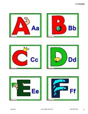 English Alphabet Worksheets Esl #2