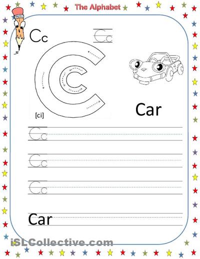 English Alphabet Worksheets For Preschoolers #1