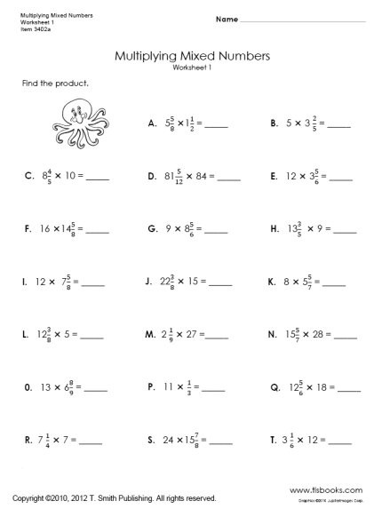 Fractions Of A Whole Number Worksheets #5