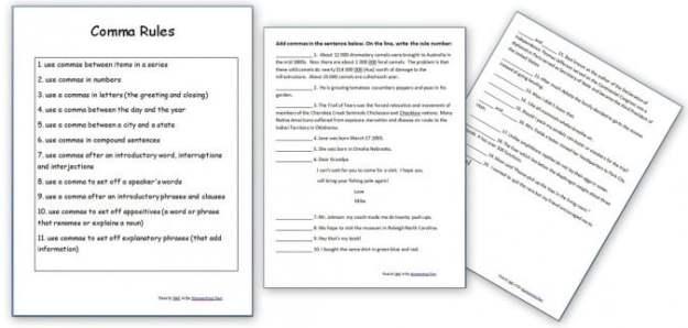 Grammar Rules Worksheets #1