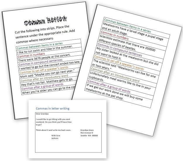 Grammar Rules Worksheets #2