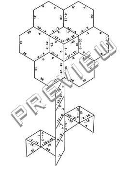 Integer Puzzle Worksheets #3