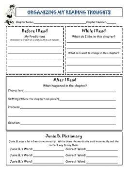 Junie B Jones Worksheets #2