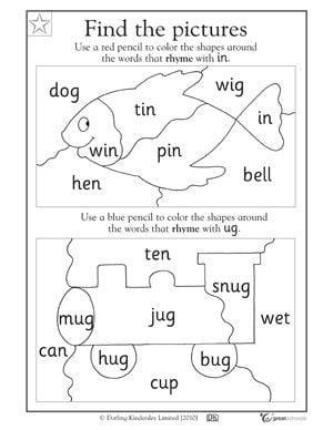 Kindergarden Reading Worksheets #1