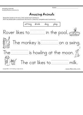 Kindergarden Reading Worksheets #2
