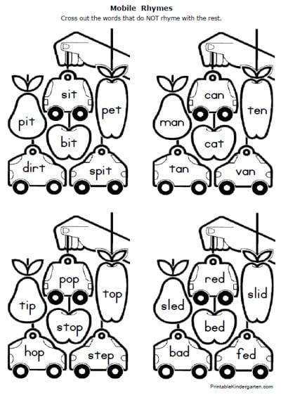 Kindergarten And 1st Grade Worksheets #2