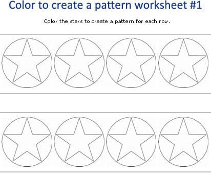 Kindergarten Patterning Worksheets #5