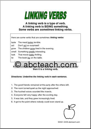 Linking Verb Worksheets #1