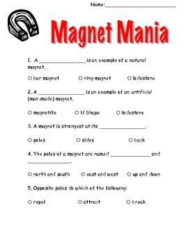 Magnet Worksheets For 2nd Grade #3