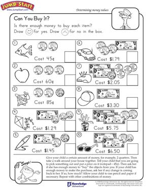 Math Worksheets On Money #2