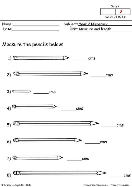 Measurement Length Worksheets #3