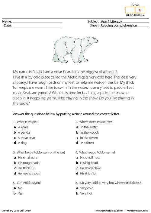 Polar Bear Worksheets #1