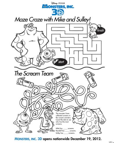 Printable Kids Activities Worksheets #1