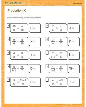 Proportion Math Worksheets #1