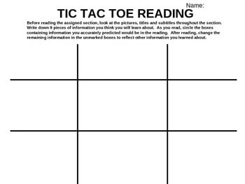 Reading Strategies Worksheets #1