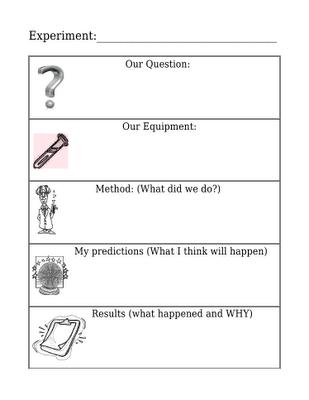 Scientific Process Worksheets #1