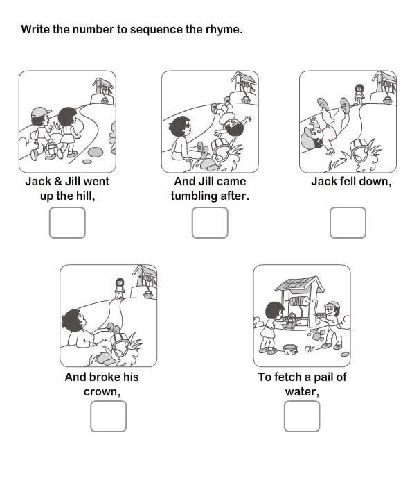 Sequence Of Events Picture Worksheets #3