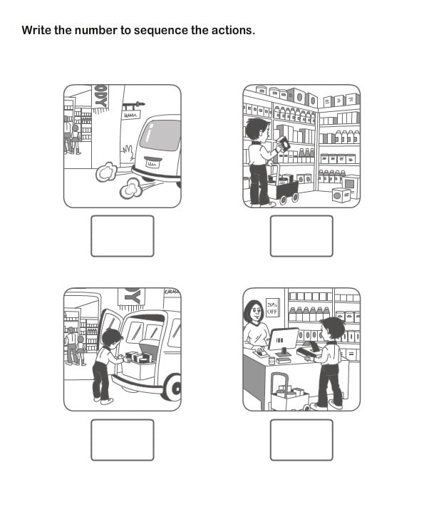Sequence Picture Worksheets #5
