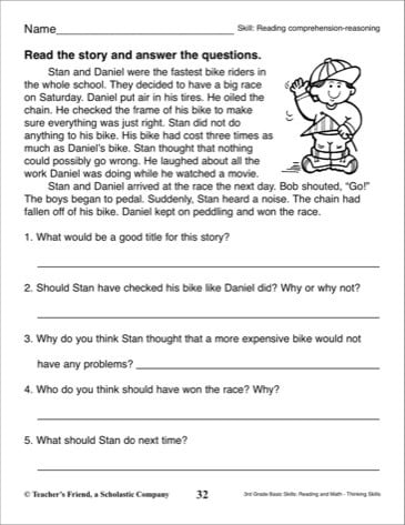 Short Comprehension Worksheets #2