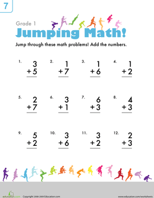 Simple Addition Worksheets For First Grade #2