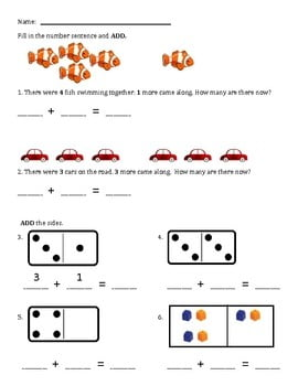 Simple Addition Worksheets For First Grade #4