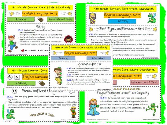 4th Grade English Language Arts Worksheets