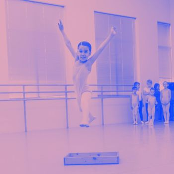 leaping ballet student