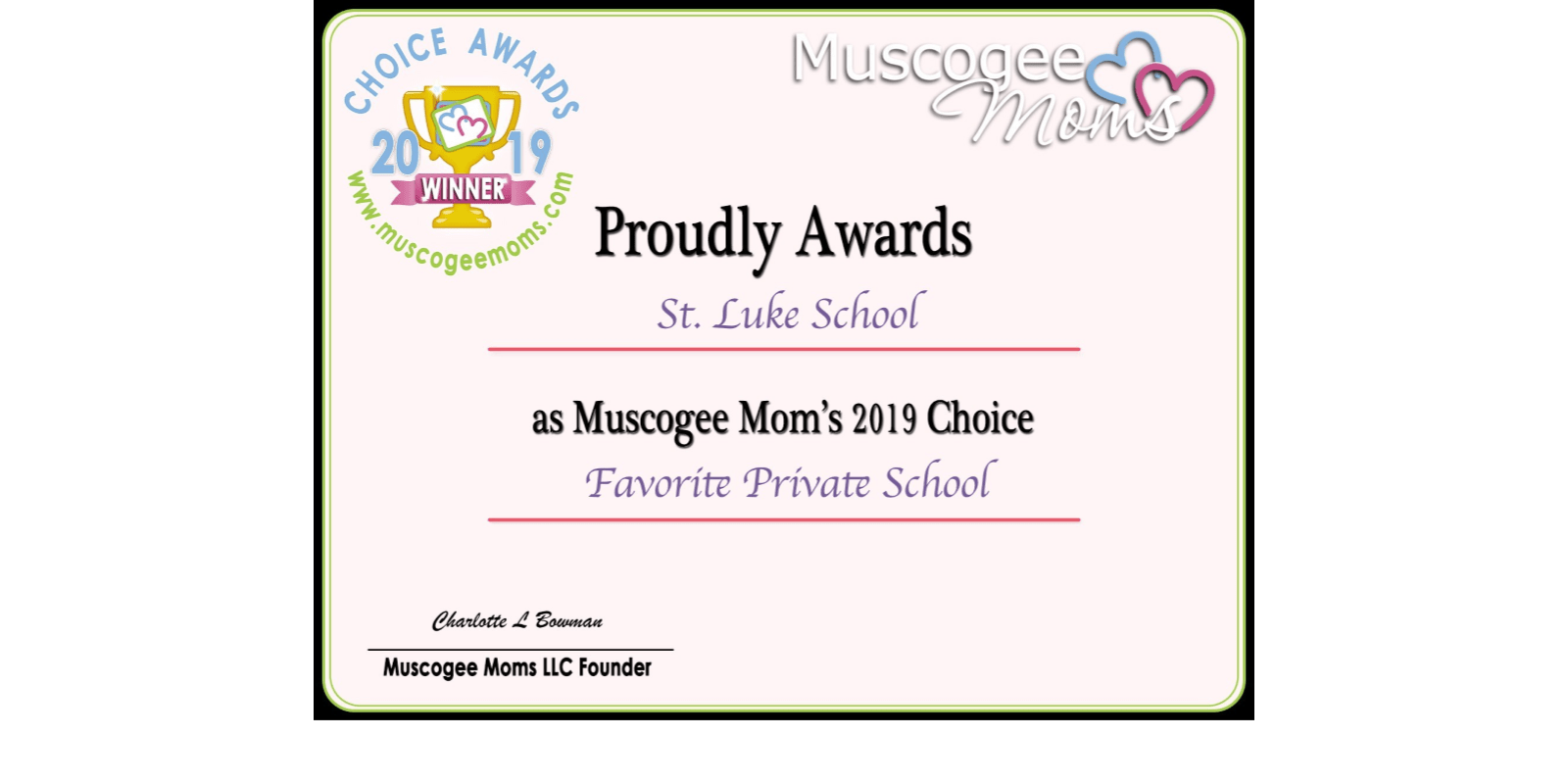 2019 Moms' Choice Award Winner!