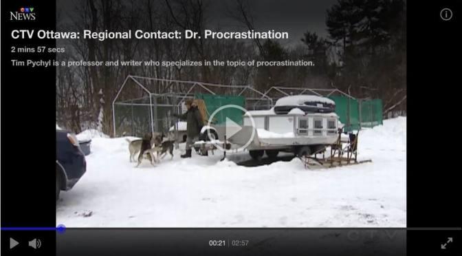 Dr. Procrastination: Tim Pychyl featured on Ottawa TV