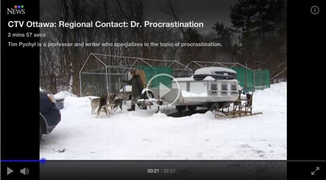 Dr. Procrastination: Tim Pychyl featured on Ottawa TV